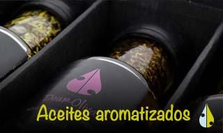 botón aceites aromatizados douroliva