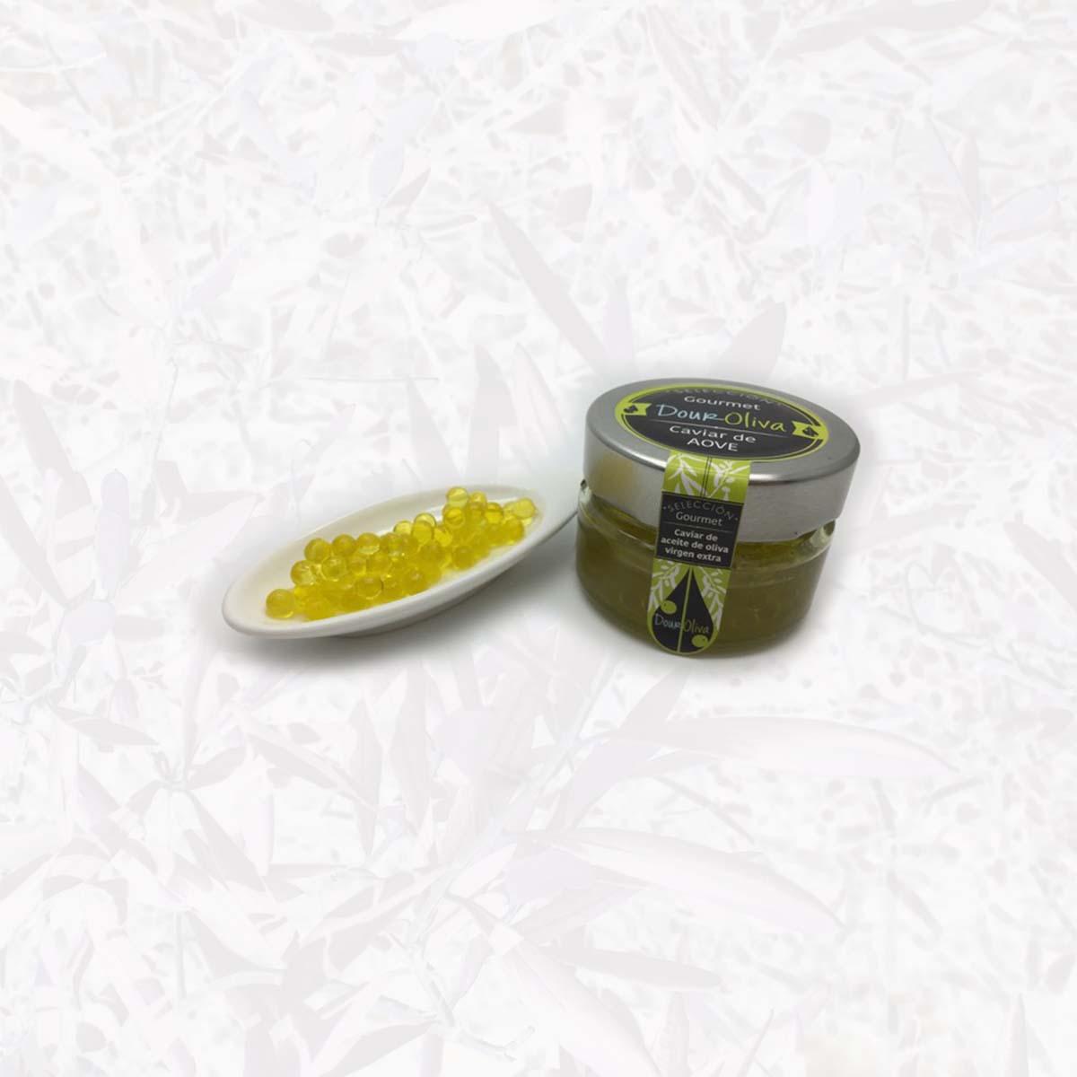 Presentación de caviar AOVE - DourOliva